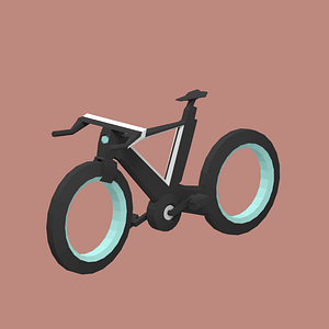 Futuristic Bicycle 3D Model