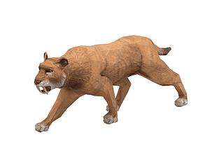 Saber-toothed Cat 3D Model