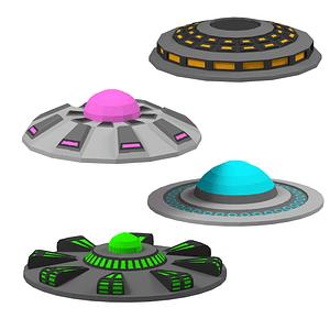Set of UFO 3D Model