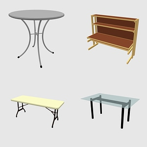 Set of Tables modelo 3D
