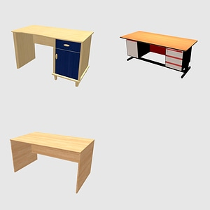 Set of Desks modelo 3D
