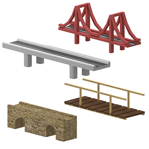 Set of Bridges 3D Model