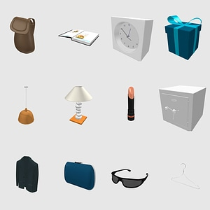 Set of Accessories 3D модель