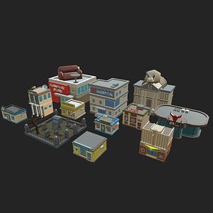 Town 3D Model