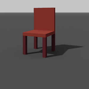 Chair low poly 3D-malli