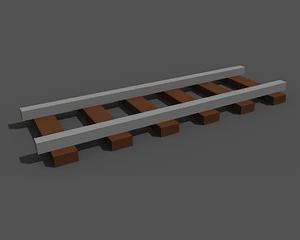 Railway track low poly 3D-malli