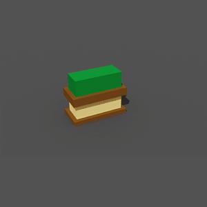 Grass tile decoration low poly 3D-malli
