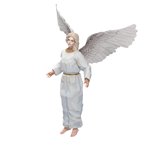 天使3D模型