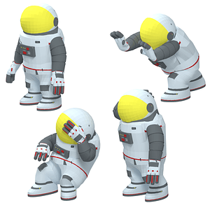 Cartoon Astronaut 3D Model