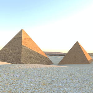 Egyptian Pyramids and Desert 3D Model