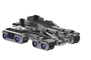 Futuristischer Panzer 3D-Modell