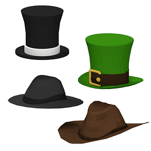 Set of Hats 3D Model