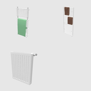 Set of Radiators 3D-model