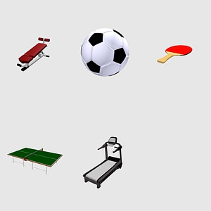 Set of Sports 3D Model