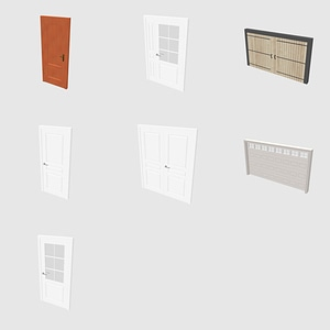 Set of Doors 3D Model