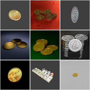 Coins Set 3D Model