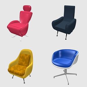 Conjunto de sillones modelo 3D