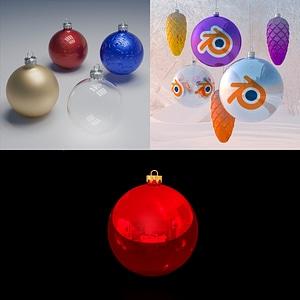 Weihnachtsdekoration Set 3D-Modell
