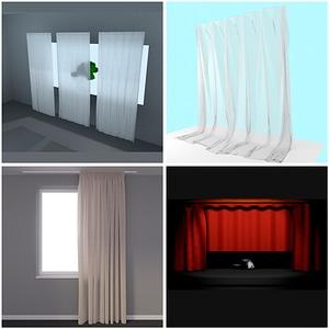 Curtain Set 3D Model