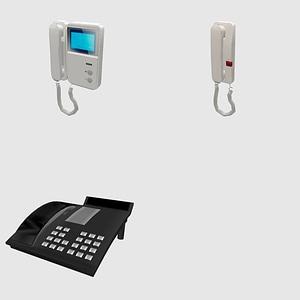 Set of Phones 3D Model