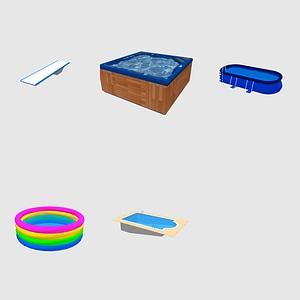 Set of Pools 3D-Modell