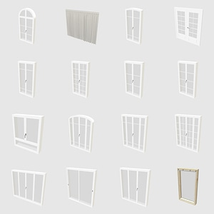 Set of Windows 3D Model