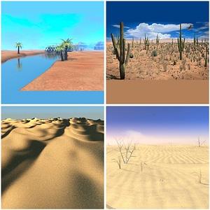 Deserts Set 3D Model