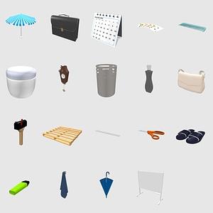 Conjunto de accesorios modelo 3D