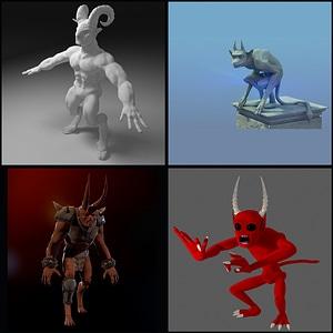 Devils Set 3D Model