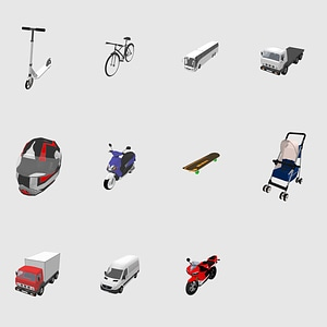 Set of Transport 3D Model