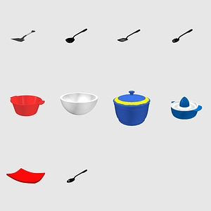 Set of Kitchen Tools 3D Model