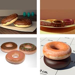 Donuts Set 3D Model