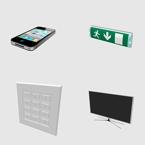Set of Electronic Devices 3D Model