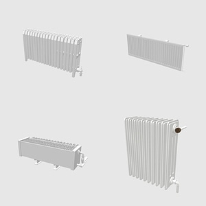 Set of Radiators 3D Model
