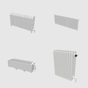 Set of Radiators 3D 모델