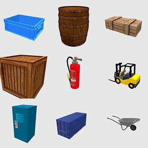Industrial set 3D Model