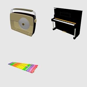 Musical set 3D Model