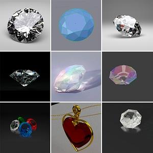 Diamonds Set 3D Model