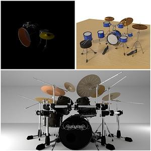Modelo 3D de Drum Set