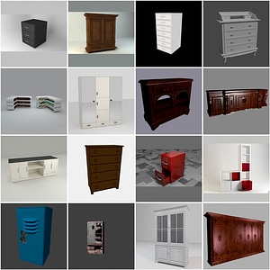 Drawers and Closets 3D 3D Model