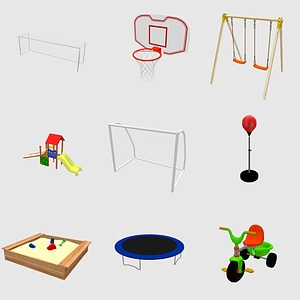 Set of Playgrounds 3D Model