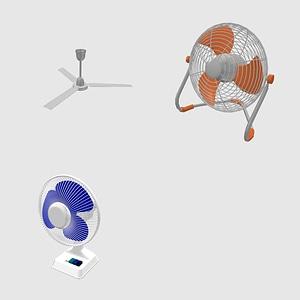 Set of Fans modelo 3D