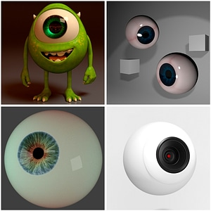 Eyeballs Set 3D Model