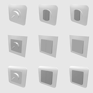Set of Switches 3D Model