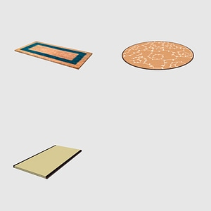 Set of Carpets 3D Model