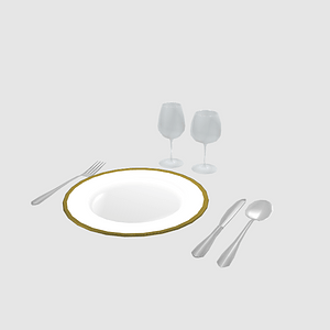 Set of Tableware 3D Model