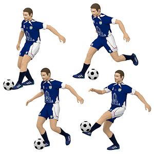 Footballer 3D Model