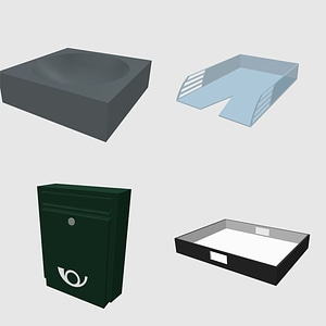 Set of Trays 3D Model
