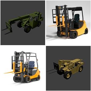 Forklifts Set 3D Model