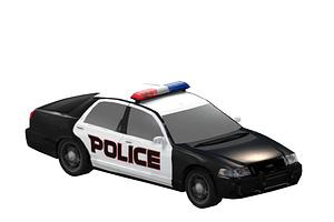 Politibil 3D-model